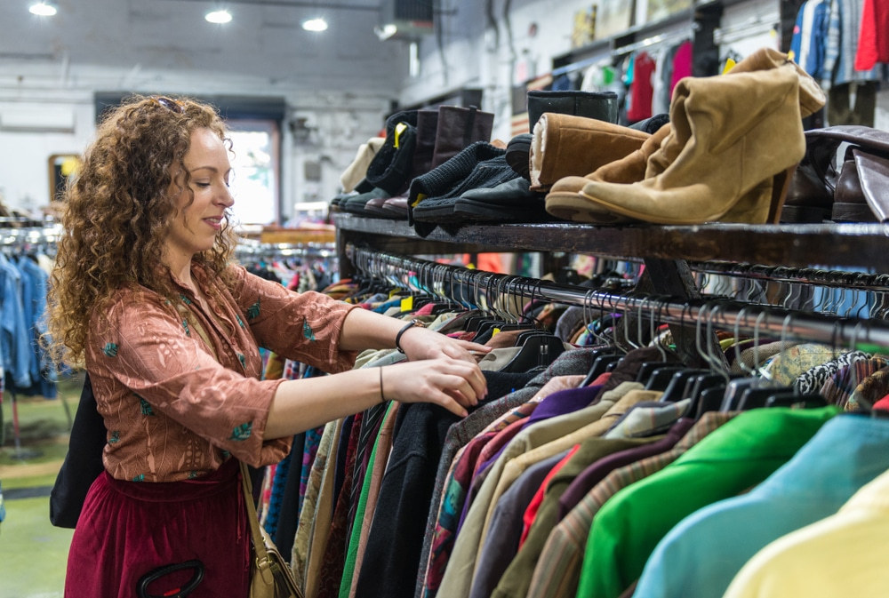 Shop at thrift stores